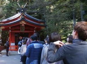 箱根神社内の九頭龍神社・新宮